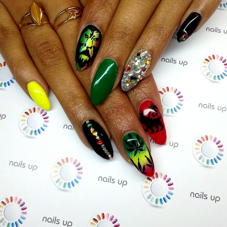 Rastaman Style Nail Art