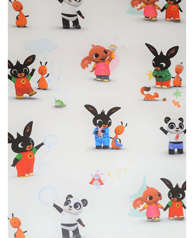 This fun and colourful Bing Bunny Wallpaper features all your favourite characters in a repeat pattern. Free UK delivery available