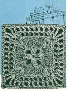 Nebraska Modern Bedspread crochet pattern from Bedspreads & Tablecloths, originally published by Coats & Clark, Book No. 301 in 1953.