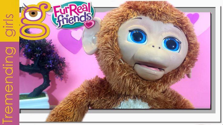 Moni Monita en español - FurReal Friends juguetes - Bebé Mona Anna Banan...