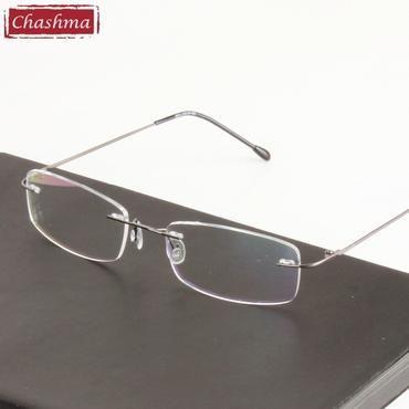 3bd57a2590b9 Chashma Chashma Super Light Titanium Alloy Prescription Glasses Frame Clear Optical  Rimless Eye Glasses Frames For Men and Women