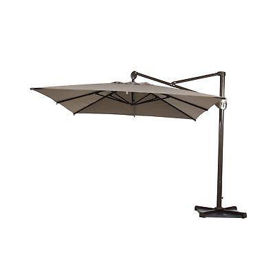 Abba Patio Offset Patio Umbrella 10-Feet Hanging Rectangular Cantilever Umbre...