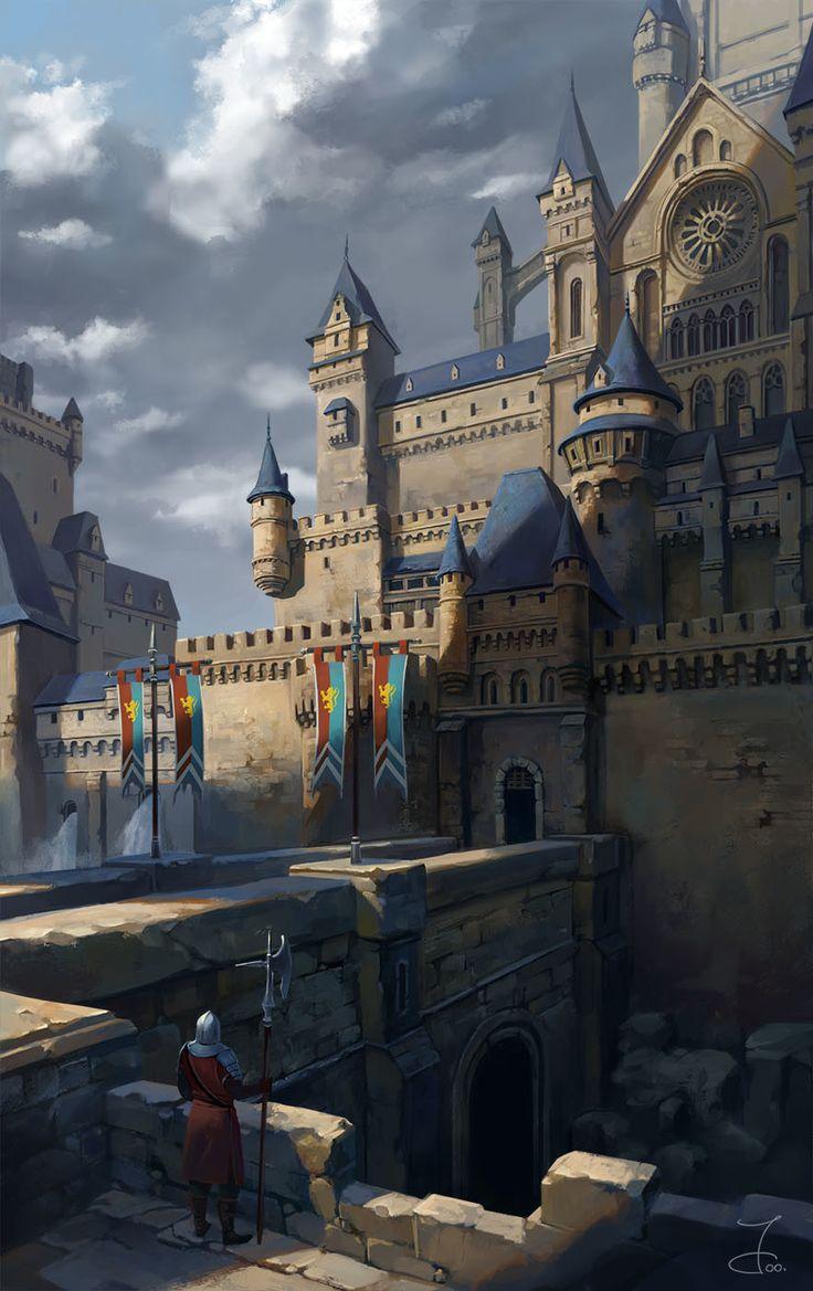 Castle, Ji Young Joo on ArtStation at https://www.artstation.com/artwork/D29dE