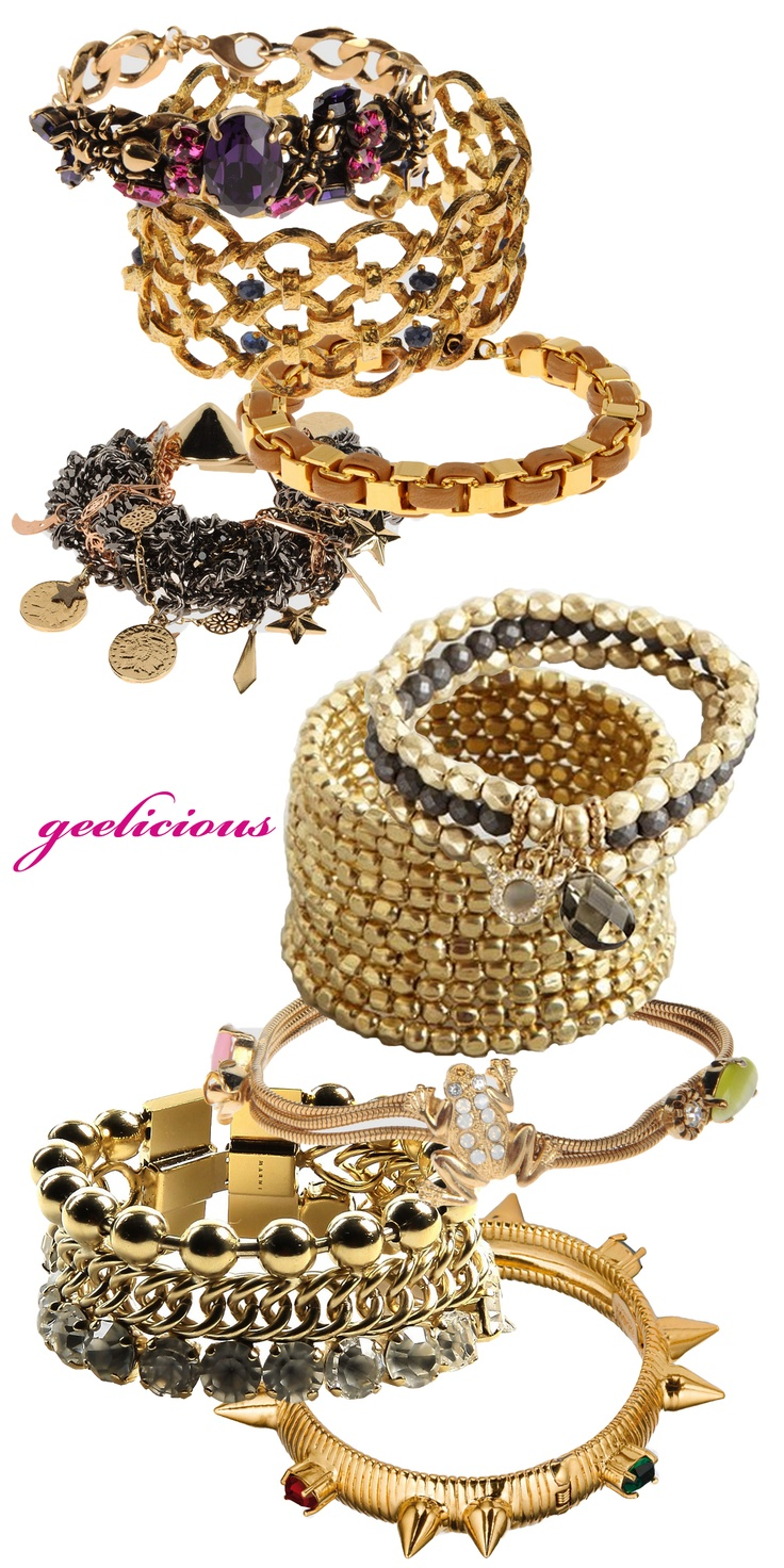 Stacking bangles from www.geelicious.net