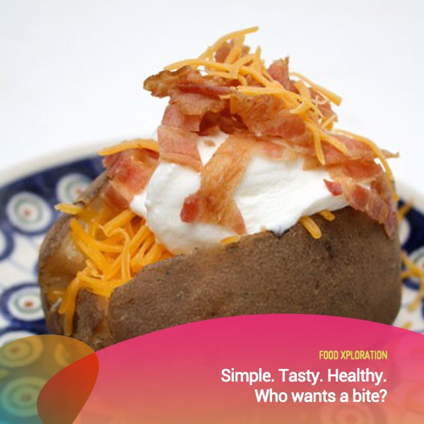 Baked potatoes, easy to make and very healthy to eat.    *as posted on XL Rame
