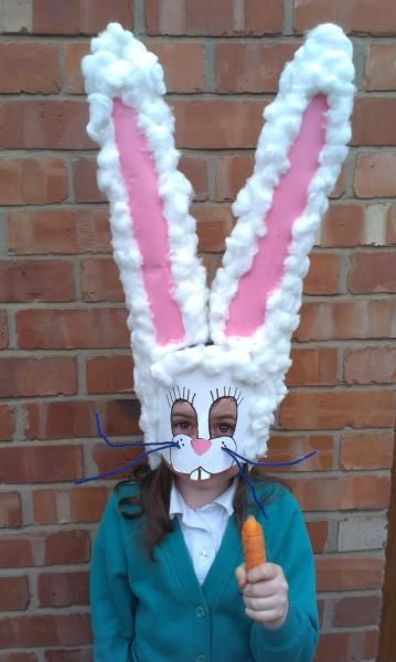 This brilliant Easter bunny mask takes the Easter bonnet to a whole new level.