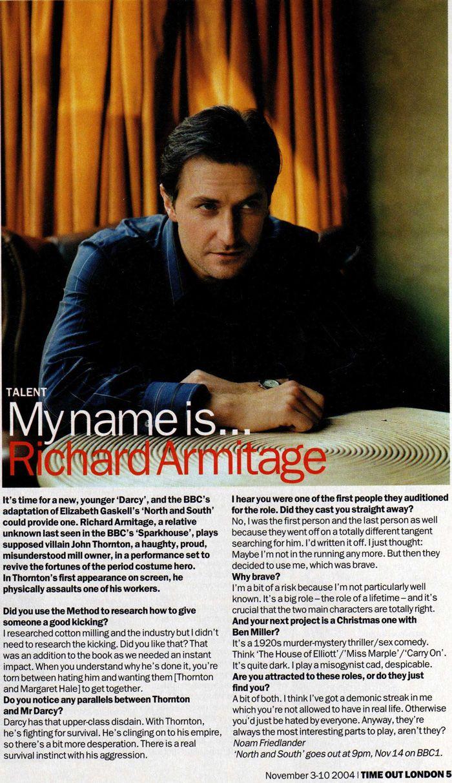 RichardArmitageOnline.com - actor Richard Armitage, estrella de la BBC Norte y del Sur, Robin Hood (Guy de Gisborne), Vicario de Dibley: artículos, inofrmation, imágenes, capturas de pantalla, clips de vídeo.