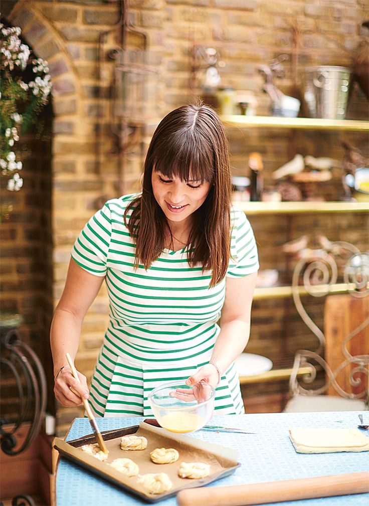 Rachel Khoo looks gorgeous in our breton stripe dress in her latest book