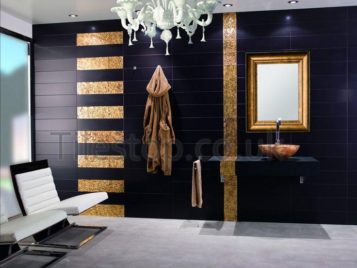 71 best black bathroom images on Pinterest Bathroom, Bathrooms - fliesen für das badezimmer