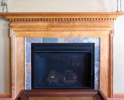 diy fireplace mantel new house pinterest
