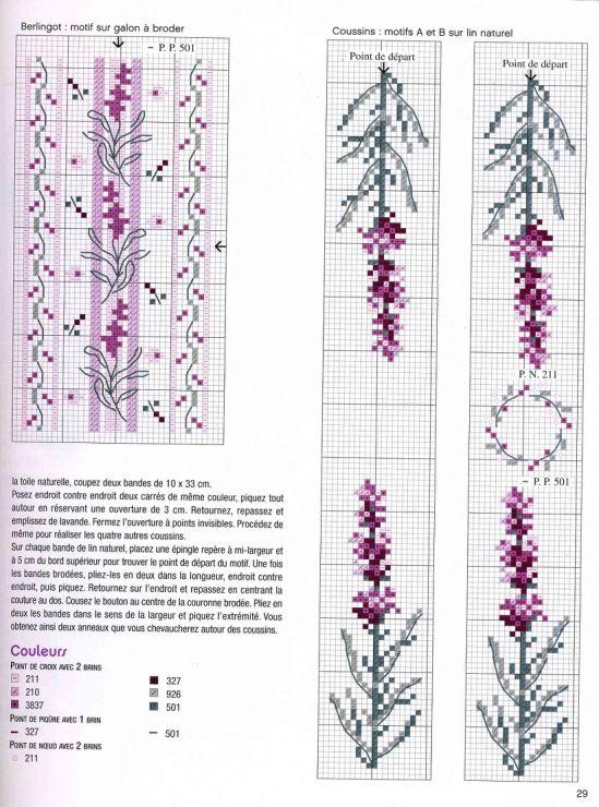 lavender cross stitch 3