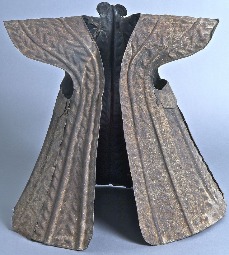 Suit of Armor, Indonesia, Nias, late 19th century, hammered metal 56 x 53 x 49 cm (22 1/16 x 20 7/8 x 19 5/16 in.), Yale University Art Gallery.