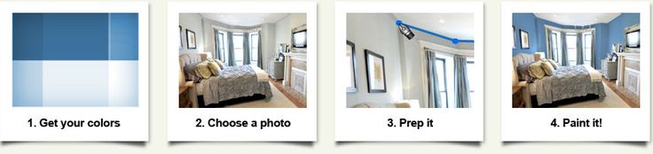 Color My Room - Love this online tool that lets you upload a pic of a room and preview possible paint colors!