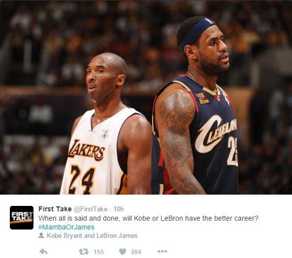 Kobe Bryant Vs LeBron James: Who Will Finish With The Greater Career? - http://www.morningnewsusa.com/kobe-bryant-vs-lebron-james-will-finish-greater-career-2357036.html