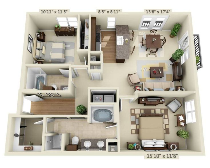 Listing Image House Floor Design Small House Plans Sims House Design