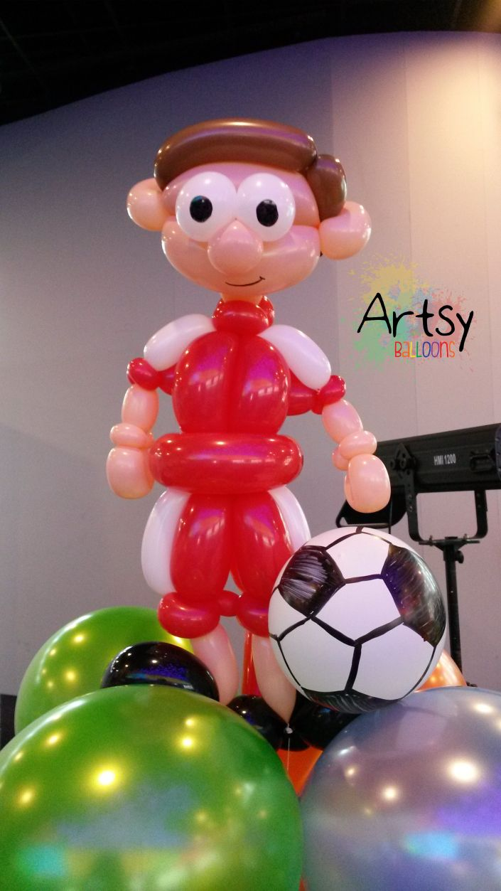 Sports Themed Balloon Decor 17 Best Images About Sports Theme Party Ideas On Pinterest