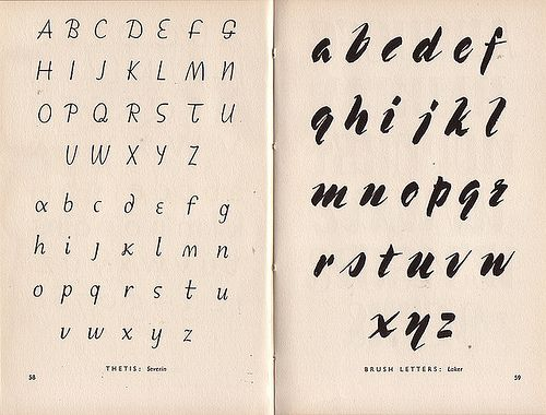Thetis, Brush Letters in the Studio Book of Alphabets