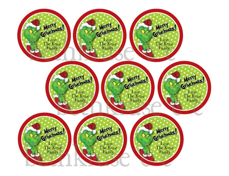 personalized grinch favor tag printable. | Grinch | Pinterest