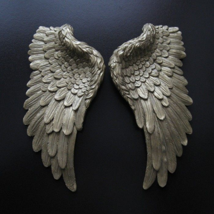Small Golden Angel Wings