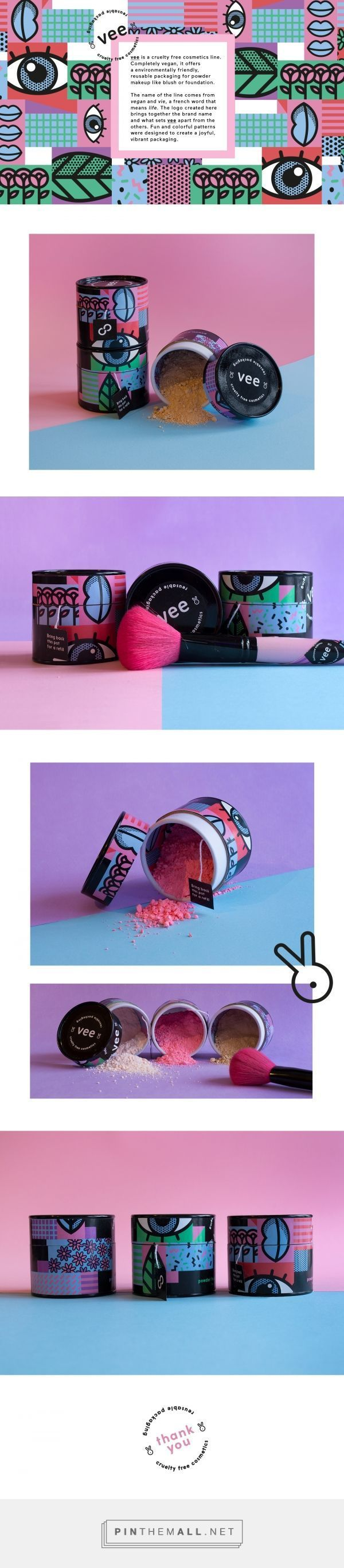 Vee Cosmetics Packaging by Camille Charbonneau| Fivestar Branding Agency – Design and Branding Agency & Curated Inspiration Gallery