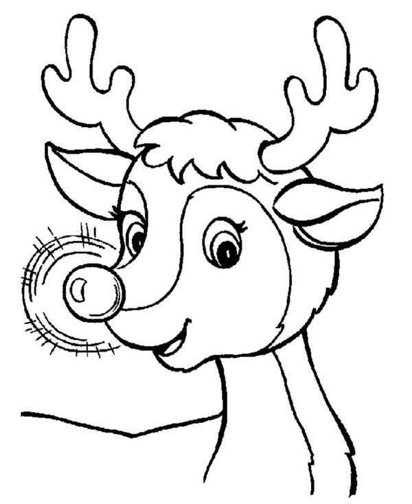 Rudolph Face Coloring Pages Rudolph Coloring Pages