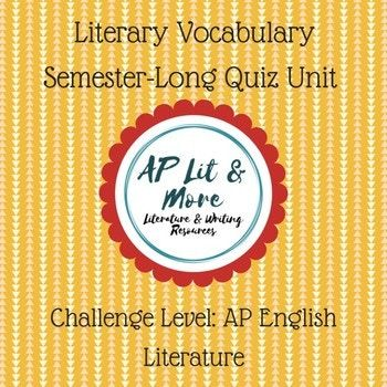 This is a semester-long unit that tests students on their long-term knowledge of important literary terms. WIth weekly quizzes on the same group of terms, it moves vocabulary from short-term into long-term memory and better prepares students for the AP English Literature exam. (scheduled via http://www.tailwindapp.com?utm_source=pinterest&utm_medium=twpin)