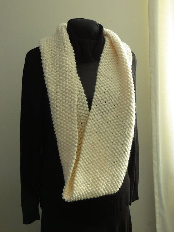 Soft cream scarf for spring.