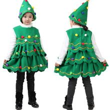 New Fashion Baby Girl Sleeveless Dresses Children Green Clothes Christmas Halloween Costumes Christmas Tree Dress 1-14Y tyh30962(China (Mainland))