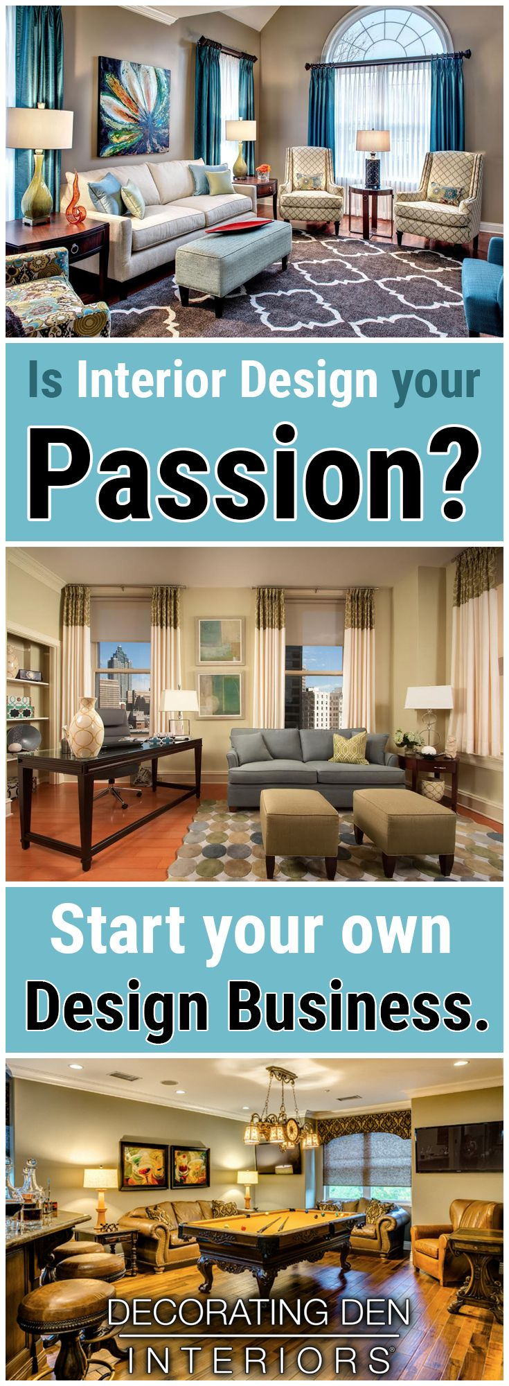 Have A Knack For Interior Design Be Your Own Boss And Make The World Beautiful One Room At A Time Design Budget Home Decorating Interior Design