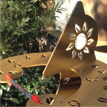 Dihelion sundial sculpture in winter sunshine