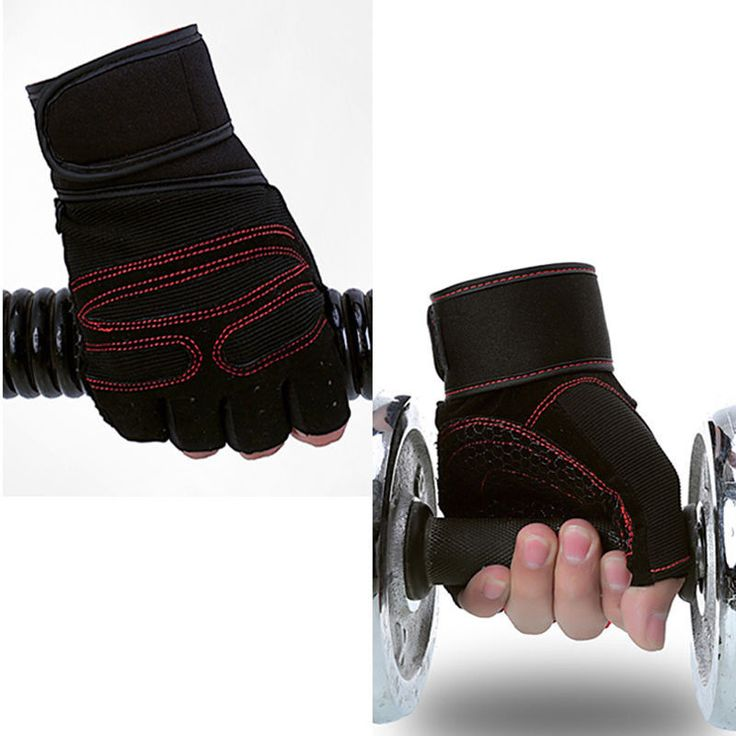 Outdoor Sports Gloves Wrist Support Weight Lifting Gym Gloves Workout Wrist Wrap #Unbranded