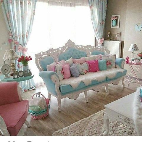 Best 20 shabby chic sofa ideas on pinterest for Retro chic living room ideas