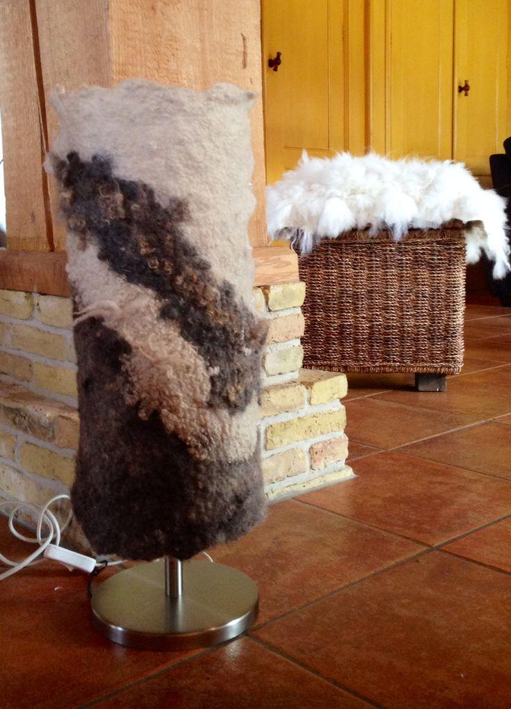 Lamp gevilt van Finull en Gotland wol