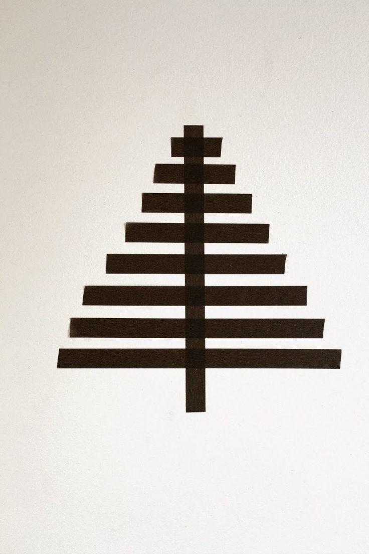 washi tape kerstboom