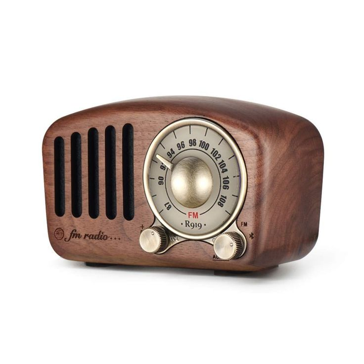 Vintage Radio Retro Bluetooth Speaker Mifine Walnut Wooden Fm Radio With Old Fashioned Classic Style Strong Bass Enhancement Loud Volume Supports Bluetooth Vintage Radio Retro Radios Radio