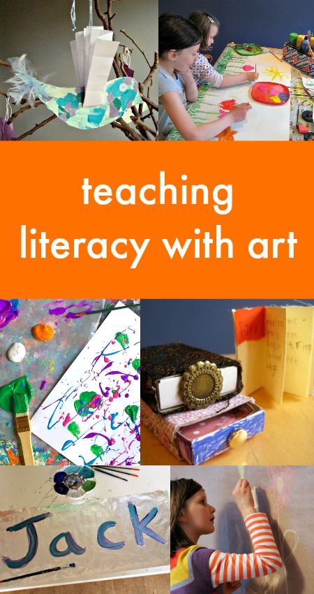 Teaching literacy with art, art and storytelling activities, homemade books for kids, homemade comic activity