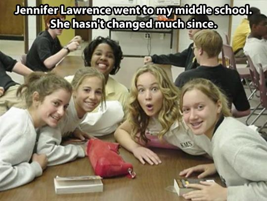 Jennifer Lawrence in Middle School
