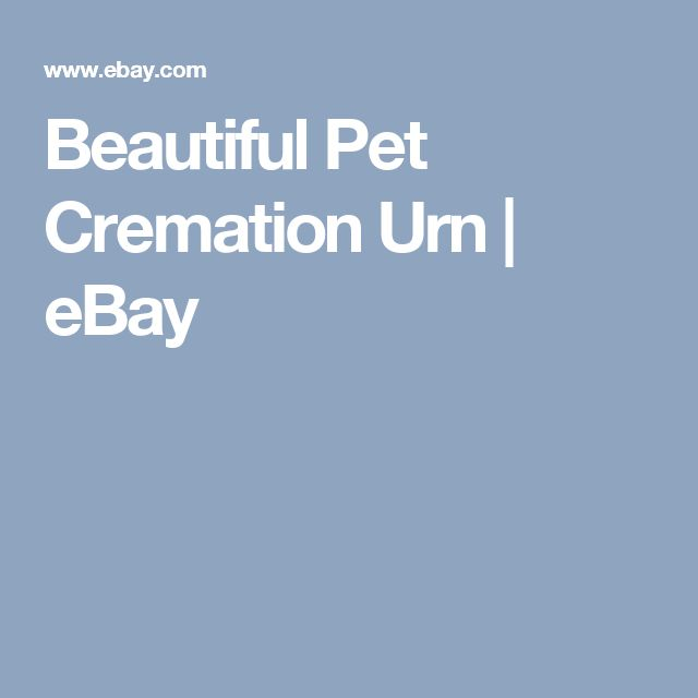 Beautiful Pet Cremation Urn | eBay