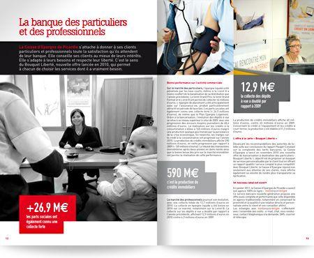 Caisse d'Epargne Piacrdie - Rapport d'activité 2010