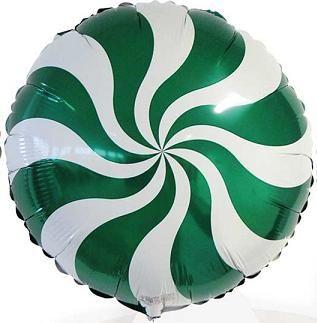 Balão Pirulito Verde Redemoinho dos Doces Candy Swirl Blue - Estilo e festas