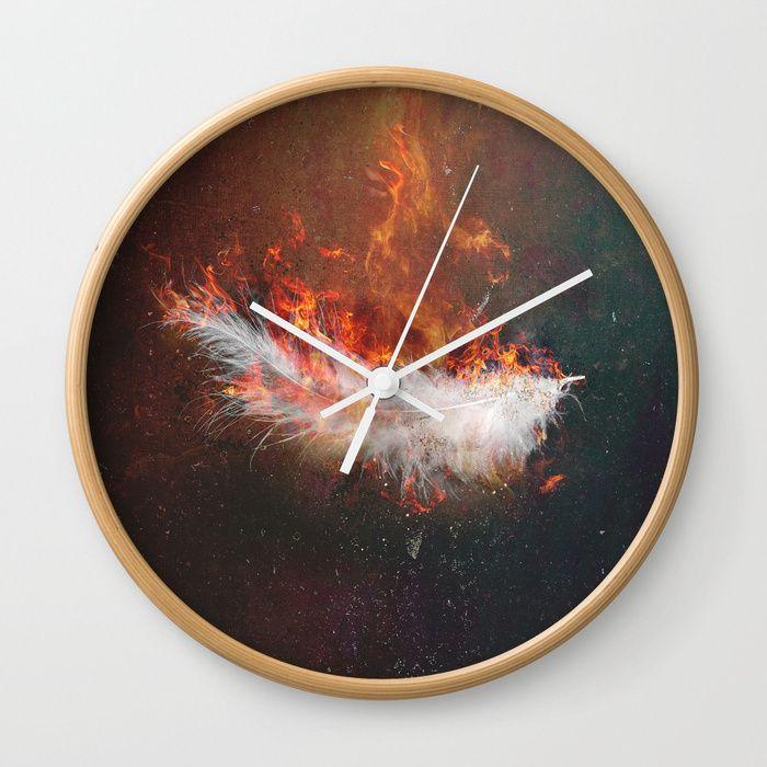 Icarus Wall Clock by HappyMelvin | Society6