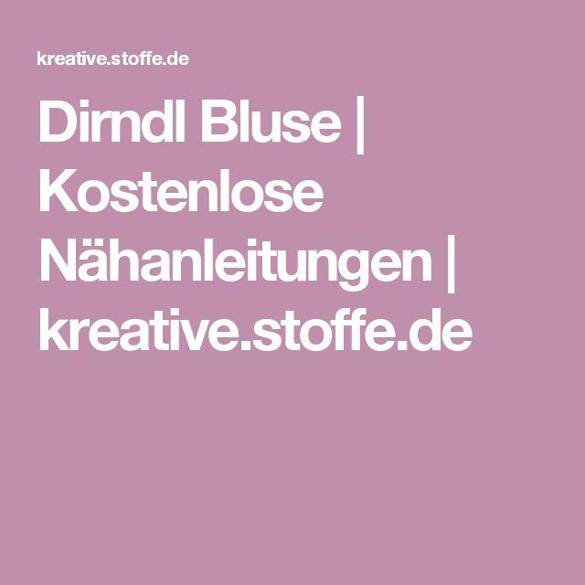 Dirndl Bluse | Kostenlose Nähanleitungen | kreative.stoffe.de