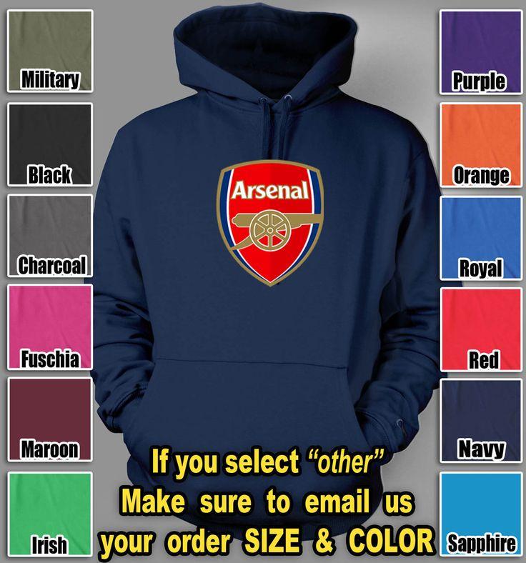 Arsenal Football Club Hoodie UEFA English Premier soccer club hooded sweatshirt $37.85 @TeesRus http://#bonanza