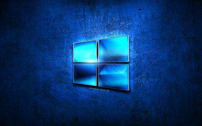 10 Windows Mavi Metal Logo Microsoft Mavi Metal Arka Plan