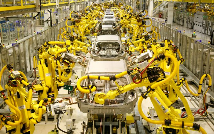 Image result for heavy industry | Industrial robots, History of robots,  Fanuc robotics