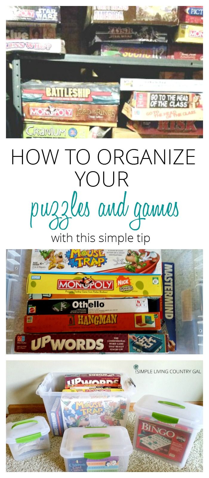 Tired of broken game boxes and missing pieces? Use this simple system to organize your games and puzzles so you can enjoy them more. via @SLcountrygal