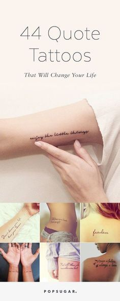 These quote tattoo ideas are inspiring!
