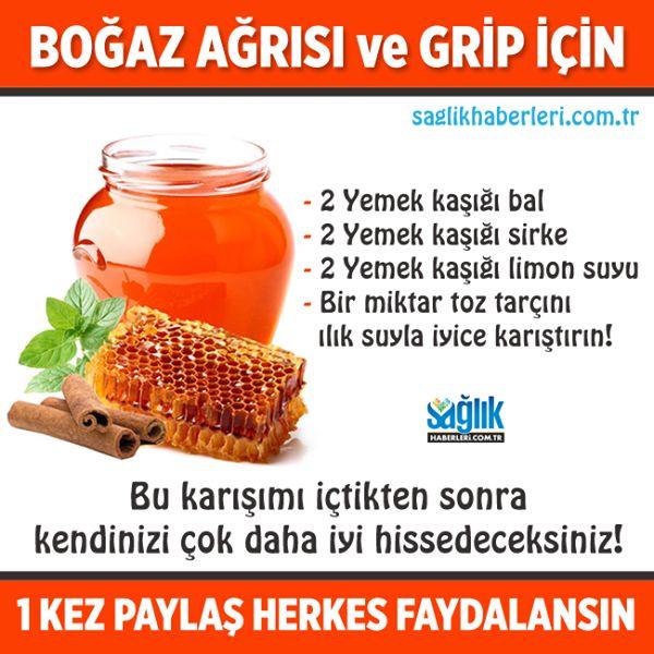 Boğaz ağrısı ve grip için! #grip #nezle #bitkiselkürler #sağlık