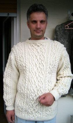 Ирландский свитер для мужчины