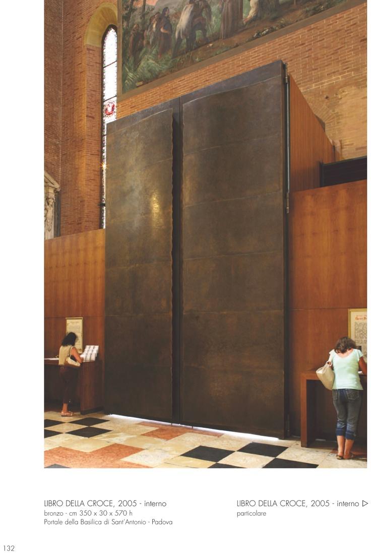 Padua Sant Antonio Basilica Main Door by Roberto Lanato Metal Sculpture.
